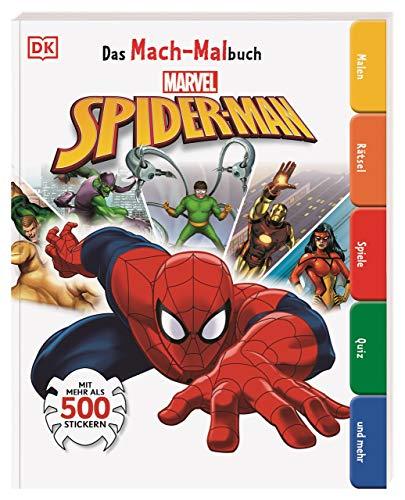Das Mach-Malbuch Marvel Spider-Man: Mit mehr als 500 Stickern. Malen, Rätsel, Spiele, Quiz und mehr