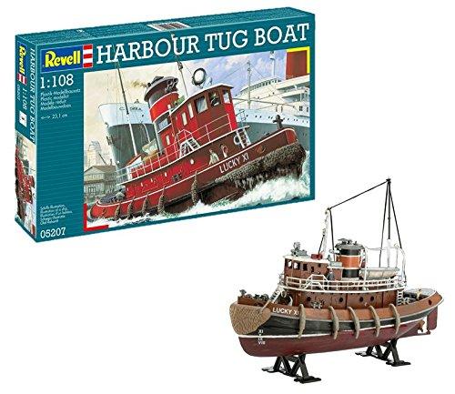 Revell Modellbausatz Schiff 1:108 - Harbour Tug Boat im Maßstab 1:108, Level 4, originalgetreue Nachbildung mit vielen Details, Hafenschlepper, 05207