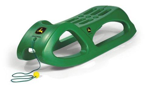 Rolly Toys rollySnow Cruiser John Deere (für Kinder ab3 Jahren, Stahlschienen, mit Zugschnur, stabile Bauform) 200160
