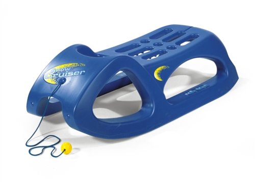 Rolly Toys 200290 - rollySnow Cruiser Kinderschlitten (Alter ab 3 Jahre, Stahlschienen, Kunststoffschlitten) blau