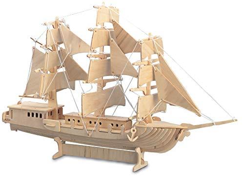Quay P049 Sailing Ship Woodcraft Construction Kit FSC Bausatz, braun