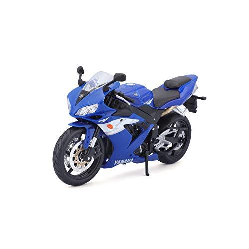 Bauer Spielwaren 2049746 Maisto Yamaha YZF-R1: Originalgetreues Motorradmodell im Maßstab 1:12, mit Federung und extra Seitenständer, blau (531102)