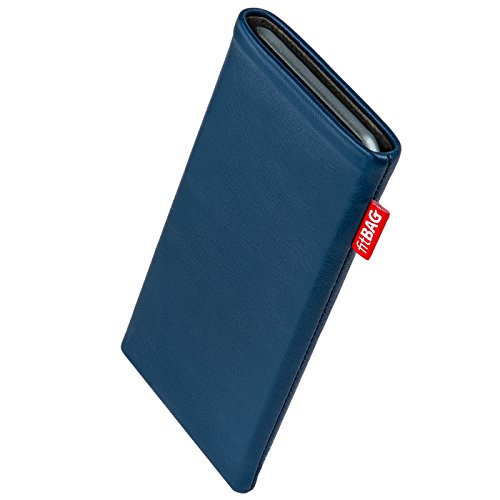 fitBAG Beat Royalblau Handytasche Tasche aus Echtleder Nappa mit Microfaserinnenfutter für Motorola Moto E   Hülle mit Reinigungsfunktion   Made in Germany