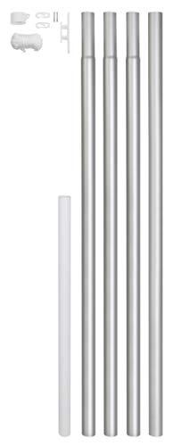 GAH-Alberts 639693 Fahnenmast zylindrische Form Aluminium, Oberfläche: blank zum Einbetonieren, Gesamthöhe 6200 mm, Höhe über Boden 5750 mm, Rohr-Ø 50 mm