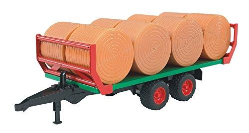 Bruder 02220 8 Rundballen Ballentransportanhänger