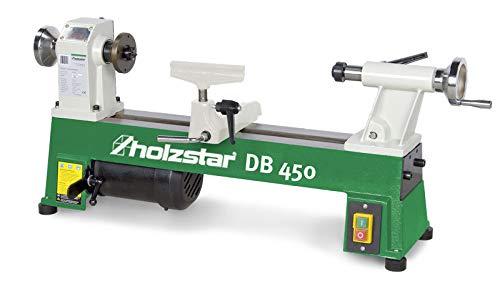 Holzstar DB 450 Drechselbank, Spindeldrehzahl: 680 – 2800 min-1, Spitzenweite: 450 mm, 230 V, 5920450