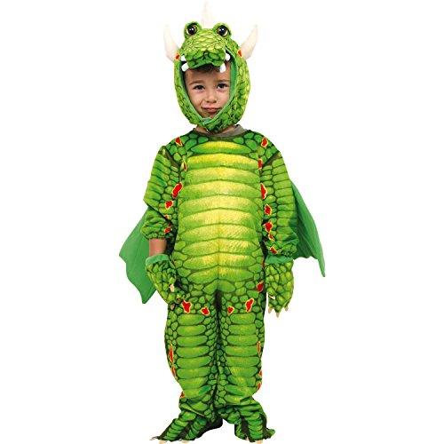 """Legler Faschings/- Karnevalskostüm /Ganzkörperkostüm """"Drachen"""" aus weichem Stoff, mit bunten Mustern inkl. Masken-Kapuze, Handschuhen und Schwanz, für Kleinkinder ab 2 Jahren"""