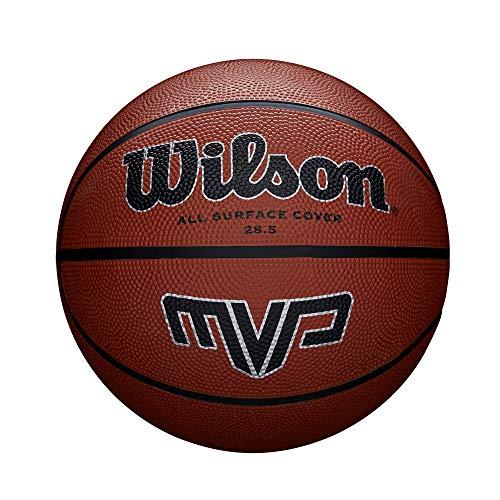 Wilson Outdoor-Basketball, Rauer Untergrund, Asphalt, Granulat, Kunststoffboden, Größe 7, ab 12 Jahre, MVP, Braun