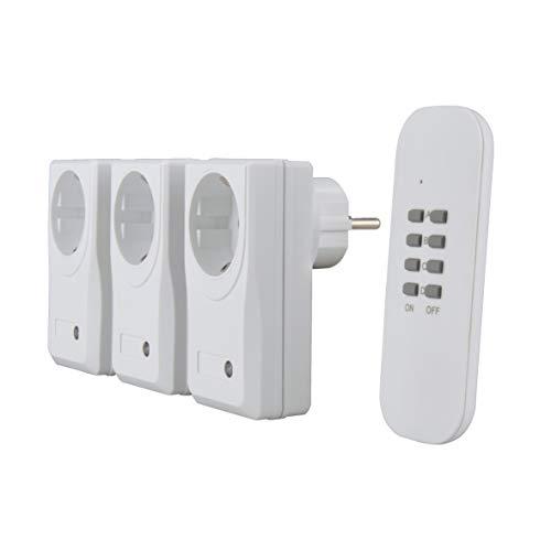 uniTEC 48110 Funkfernschalterset 3+1 Micro - weiß