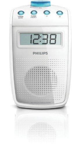Philips AE2330 Tragbares Duschradio (UKW-/MW-Tuner, LC-Display) weiß