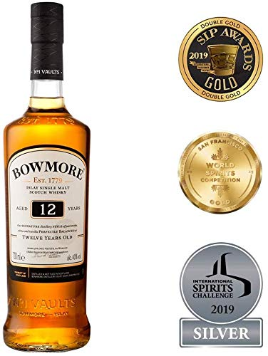 Bowmore 12 Jahre, Single Malt Scotch Whisky (1 x 700 ml)