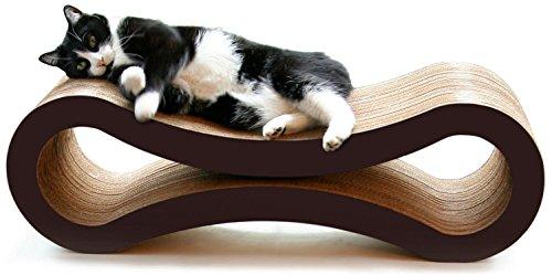 PetFusion Katzen-Kratzbaum, 86x 27x 27cm Hochwertiger Pappkarton und Design. -