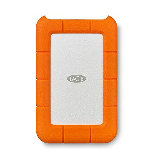 LaCie LAC301558 Mini 1 TB Externe robuste Festplatte (6,4 cm (2,5 Zoll) Rugged, Staub-, Stoss- und Spritzwasser- geschützt, USB 3.0)