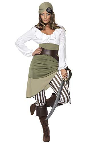Matrosen-Zuckerpuppe Kostüm Oberteil Rock Leggings Kopftuch Gürtel und Überstiefel, Large