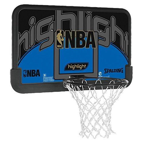 Spalding Basketballkorb Spalding NBA Highlight Backboard, schwarz/blau, 3001673011144