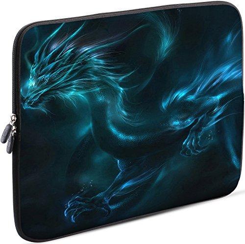 Sidorenko Laptop Tasche für 15-15,6 Zoll - Universal Notebooktasche Schutzhülle - Laptoptasche aus Neopren, PC Computer Hülle Sleeve Case Etui, Grün