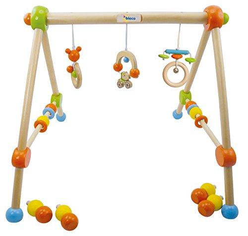 Bieco 4002315 Holz Gym, höhenverstellbar, grün