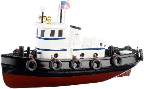 Playtastic Schiffsmodell: 70-teiliger Schiff-Bausatz Schlepper aus Holz (Spielzeug Holzboot selber Bauen)