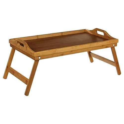Frühstückstablett fürs Bett oder TV- Tablett für das Sofa aus hochwertigem BAMBUS