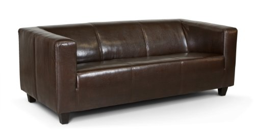 3-Sitzer Sofa Kuba 186 x 88 cm, Kunstleder, braun