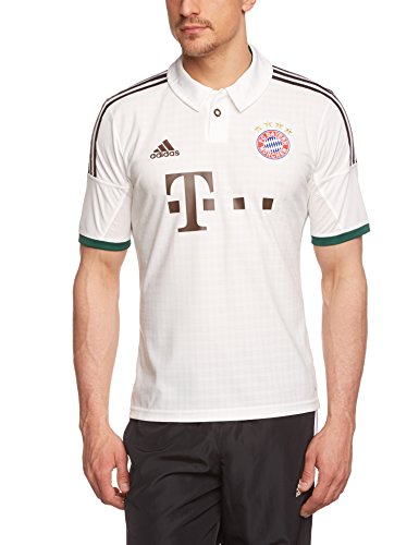 adidas Herren kurzärmliges Trikot FC Bayern Away Jersey, Weiß/Schwarz, L