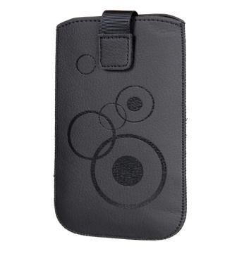 Handytasche Circle geeignet für Apple iPhone XS Max - Handy Tasche Schutz Hülle Slim Case Cover Etui schwarz