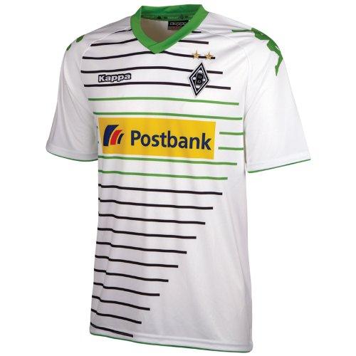Kappa Kinder Trainingsshirt Borussia Mönchengladbach Trikot Home, Weiß/Grün, 152, 401900J-001