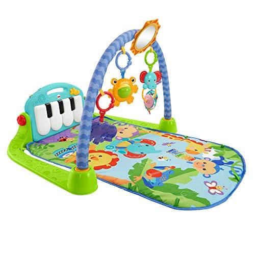 Fisher-Price BMH49 - Rainforest Piano-Gym Baby Spielbogen, mit Musik und Licht inkl. Spielzeug grün Babyerstausstattung, ab Geburt
