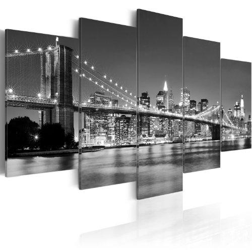 murando - Bilder 200x100 cm Vlies Leinwandbild 5 TLG Kunstdruck modern Wandbilder XXL Wanddekoration Design Wand Bild - New York 030211-51