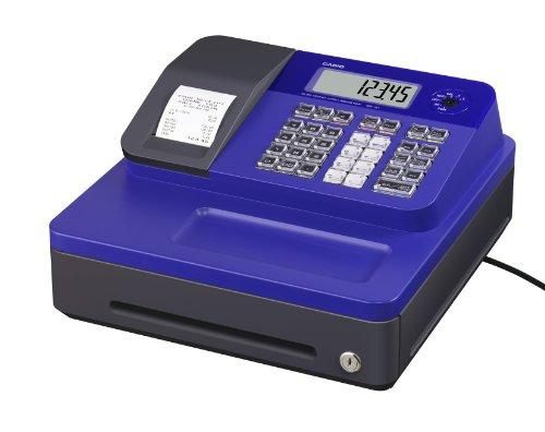 Casio SE-G1SB-BU Registrierkasse mit kleiner Geldlade, Thermodruck Kundenanzeige, blau