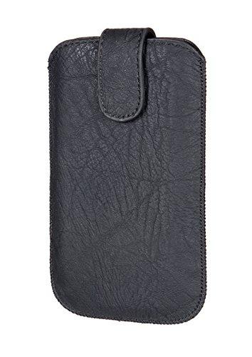 """2 in 1 Set - Handytasche Gemustert Schwarz Inkl. Reissverschluss Etui Softcase Schwarz passend für """"Apple Iphone 6 6s 7"""" Handy Tasche Schutz Hülle Slim Case Cover Etui"""