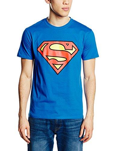 DC COMICS Herren Superman Logo T-Shirt, Royalblau, XL