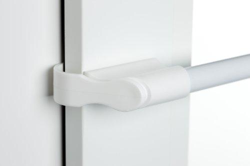 Klemmstange weiß Ø 10/12mm 50-75cm für Fenster für Scheibengardinen, Spannvitrage, Vitragestange für Fenster