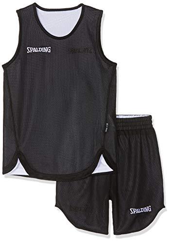Spalding Kinder DOUBLEFACE KIDS SET Kinder Trikot&shorts Set Trikot Doubleface Set, Mehrfarbig (Reversible Black/White), M