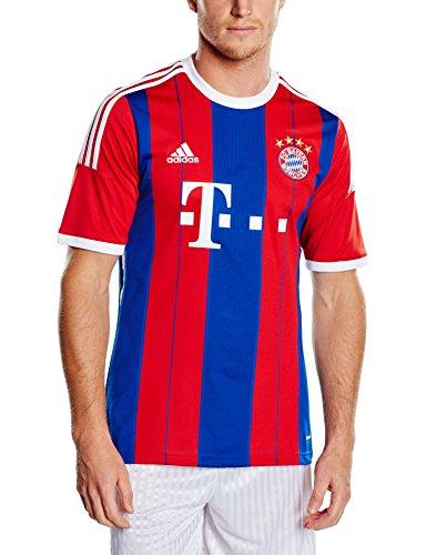 adidas Herren Spieler-Trikot FC Bayern München Replica Heim, Fcb True Red/Collegiate Royal/White, L