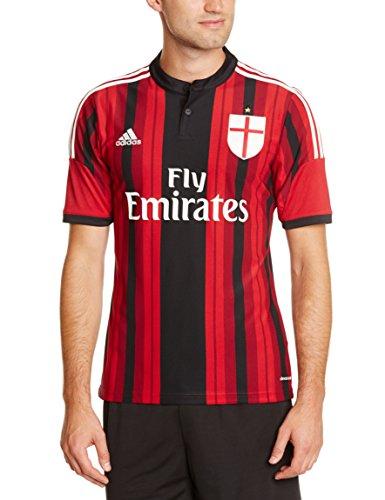 adidas Herren Trikot AC Mailand Replica Heimtrikot, Black/Victory Red S04/Running White, L, D87224