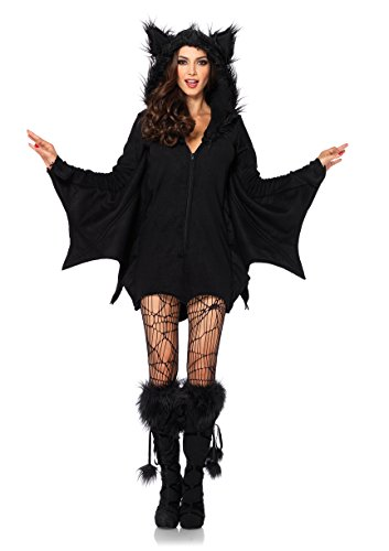 LEG AVENUE 85311 - Cozy Bat Kostüm, Größe XL, schwarz, Damen Karneval Kostüm Fasching