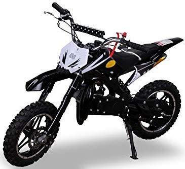 Kinder Mini Crossbike Delta 49 cc 2-takt Dirt Bike Dirtbike Pocket Cross (Schwarz)