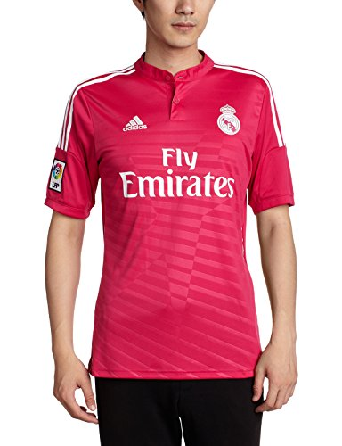 adidas Herren Trikot Real Madrid Auswärtstrikot 2014/2015, Blast Pink/White, L, M37315