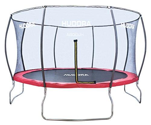 HUDORA Fantastic Trampolin - Hochwertiges und sicheres Garten-Trampolin mit Sicherheitsnetz für die ganze Familie, Mehrkarton-Variante