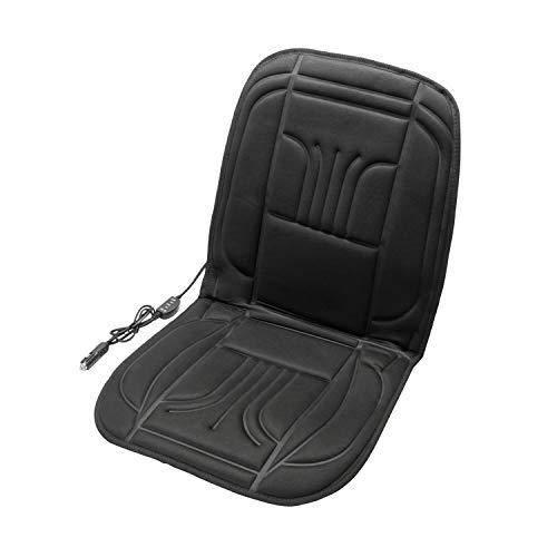 UNITEC 75774 Auto Sitzheizung Carbon Basic, Beheizbare Sitzauflage Heizkissen, 2 Heizstufen, Seitenairbag geeignet, 12 Volt Anschluss, für Fahrer- und Beifahrersitz geeignet