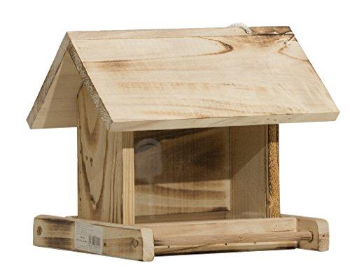 Windhager Vogelfuttersilo GARDEN, Vogelfutterhaus Vogelhäuschen Futterspender, aus Fichtenholz, inklusive Aufhängeschnur, 24 x 24 x 19 cm, 06911