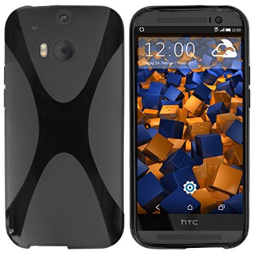 mumbi Hülle kompatibel mit HTC One M8 / M8s Handy Case Handyhülle, schwarz
