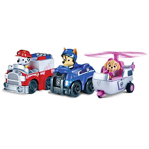Paw Patrol 6024761 - Paw Patrol  Rescue Racers -  3-er Pack - Version 3 (Marshall, Chase, Skye)