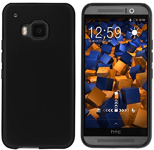 mumbi Hülle kompatibel mit HTC One M9 Handy Case Handyhülle, schwarz