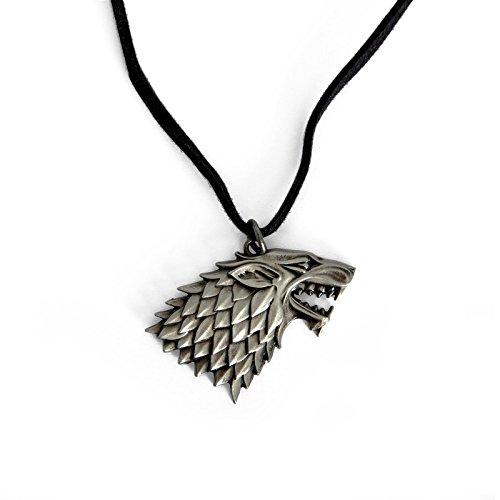 Game of Thrones House Stark Wappen Schattenwolf Kette Geschenk für Serien-Fans lizenziert