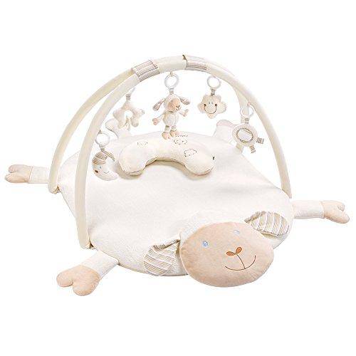 Fehn 154580 3-D-Activity-Decke Schaf / Spielbogen mit 5 abnehmbaren Spielzeugen für Babys Spiel & Spaß von Geburt an / Maße: 90x75cm