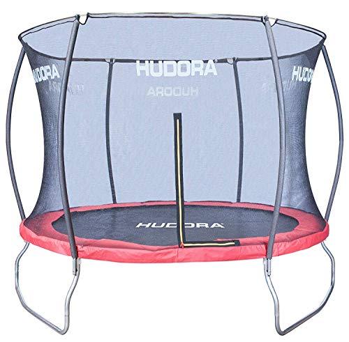 HUDORA Fantastic Trampolin 400 cm - Hochwertiges und sicheres Garten-Trampolin mit Sicherheitsnetz für die ganze Familie, Mehrkarton-Variante