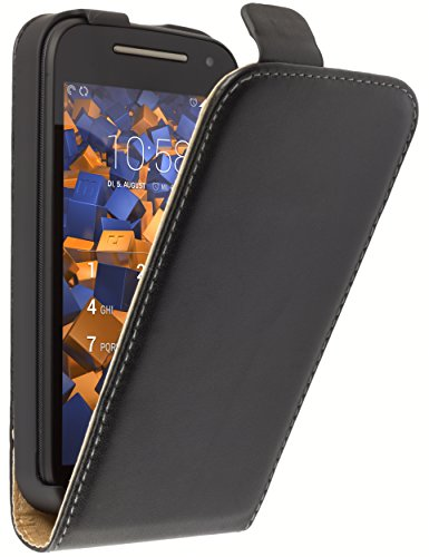 mumbi Flip Case für Motorola Moto E (2. Generation) Tasche (passt NICHT mit Modell 2014)