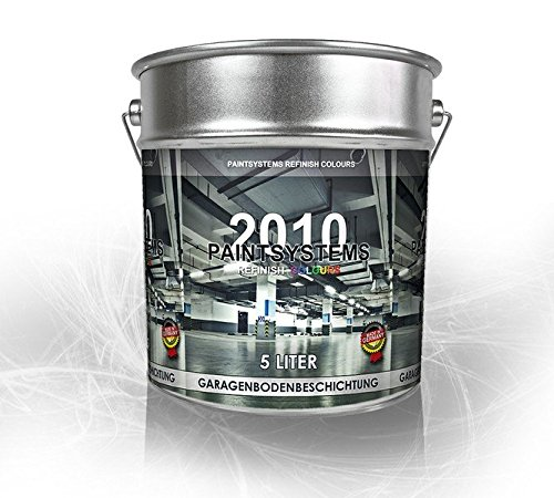 Garagenbodenbeschichtung Garagenbodenfarbe Betonfarbe Garagenboden PU 5 Liter RAL WUNSCHFARBTON